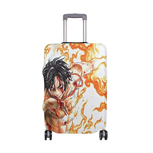 Travel Lage Cover One Piece Portgas D Ace Suitcase Protector Fits 26-28 Inch Washable Baggage Covers