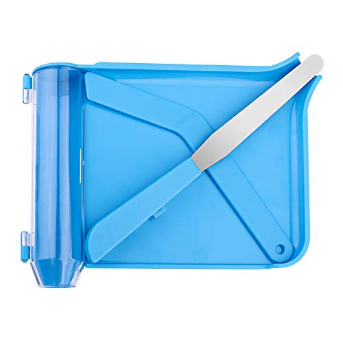 Upgraded Counting Tray with 2 Spatulas, Opret Pill Counter with A Straight Spatula & A L-Spatula for Pharmacy to Count Meds Pills Tablets