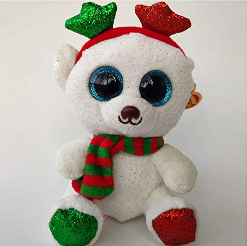 WFORGETT Juguete de Peluche,Christmas Frost Bear with Heart Tag Tush Label Ty Peluches Peluches Juguetes para niños