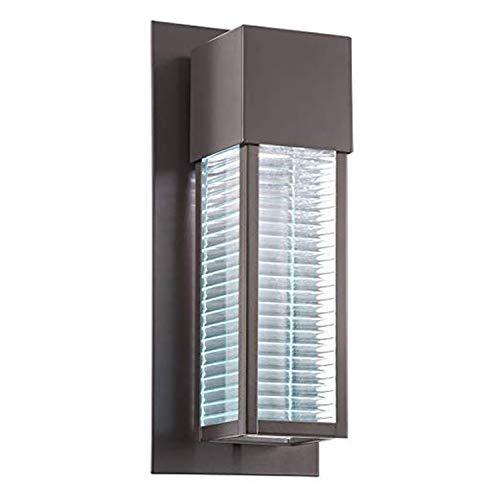 Stilvolle Wandleuchte außen Braun inkl. LED Leuchtmittel für GU10 Bauhaus Design Außenlampe...