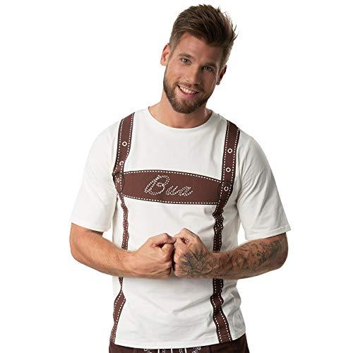 dressforfun 900636 Männer Trachten Shirt Bua, T-Shirt mit originellem Hosenträger-Aufdruck - Diverse Größen - (XXL  Nr. 302889)