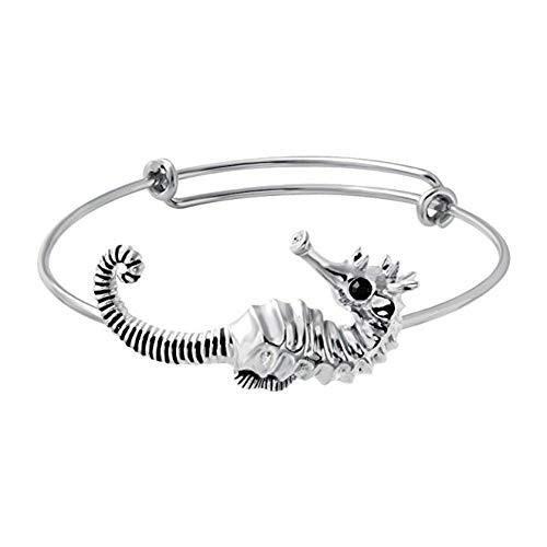 MHOOOA Mode 3 Farben Weibliche Reizende Nette Tier Draht Erweiterbar Armreif Einfache Armband Einstellbare Elegante Seepferdchen Armband