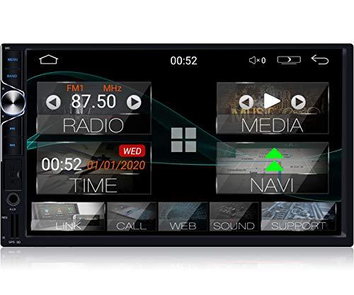 "Tristan Auron BT2D7025A Android 10 Autoradio mit Navi - 7\"" Touchscreen GPS Bluetooth Freisprecheinrichtung I 32GB ROM I MirrorLink WiFi USB SD I DAB+ OBD 2 2 DIN"
