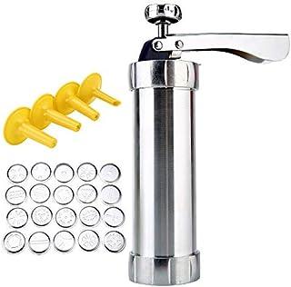 Cookie Press Pump Machine, Biscuit Maker Set Multifunctional Cookie Press Set with 1 Cookie Press & 4 Icing Tip Nozzle & 2...