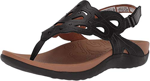Rockport Women's Ridge Sling Sandal, Black, 8 M US