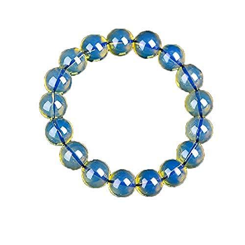 JUJ Pulsera de Cera de ámbar Azul Natural para Hombres y Mujeres, Brazalete de Cuentas