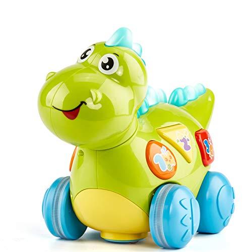 CubicFun Baby Musik Spielzeug Dinosaurier für 12-18 Monate, Kriechendes und Singendes Musikalisches Babyspielzeug für Kleinkinder für 1 Jahr Alte Junge Mädchen