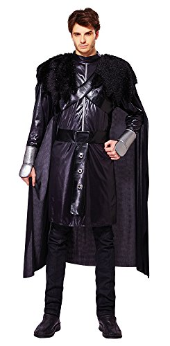 Disfraz de caballero negro de Bristol Novelty AF025, contorn