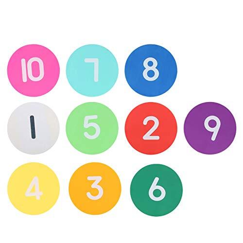 SALUTUYA 1 Juego de 10 marcadores de Entrenamiento de fútbol Antideslizante, señal Digital para Practicar el Ritmo
