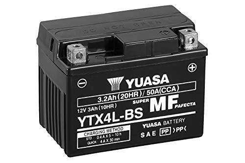 YUASA BATTERIE YTX4L-BS AGM offen mit Saeurepack