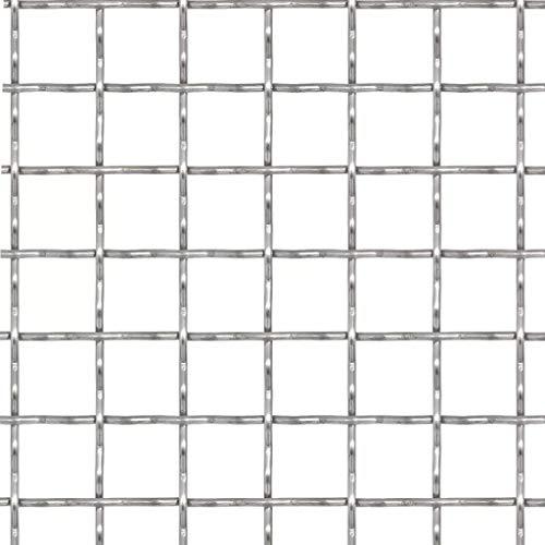 Nishore Drahtgitter Wellengitter Edelstahl Gittermatte Gitter Drahtgitter das Errichten eines Zauns, 100x85 cm Maschenweite 31x31x3 mm
