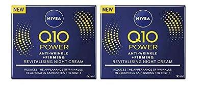 Nivea Q10 Power Anti-Wrinkle + Firming Revitalising Night Cream, 50ml (Pack of 2) by