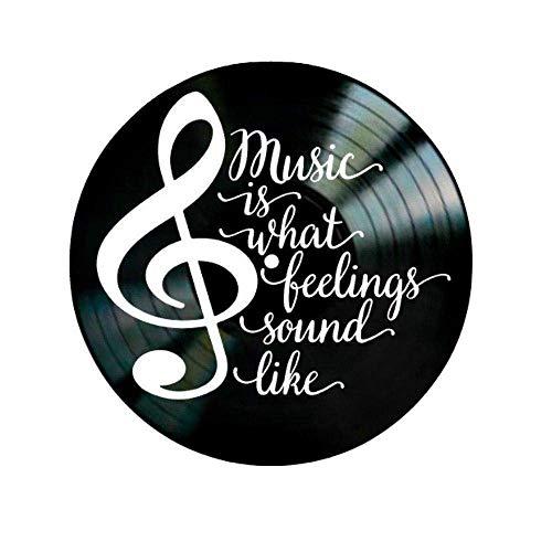 BBZZ Inicio Moda Simplicidad La música es lo que los sentimientos suenan cita en un disco de vinilo,