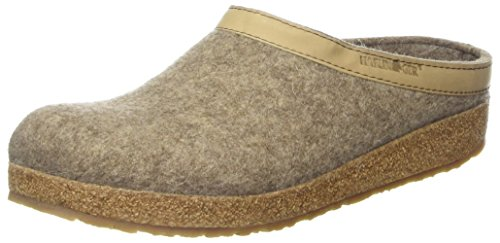 Haflinger Grizzly Torben Pantoffeln Unisex-Erwachsene, Beige (550 Torf), 50 EU