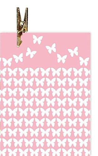 Karte Allgemein Anhänger Motiv blanko Klammerkarte Schmetterlinge stilisiert - Liefermenge 10 Stück