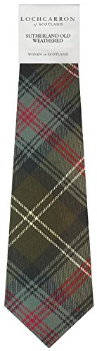 I Luv Ltd Gents Neck Tie Sutherland Old Weathered Tartan Lightweight Scottish Clan Tie