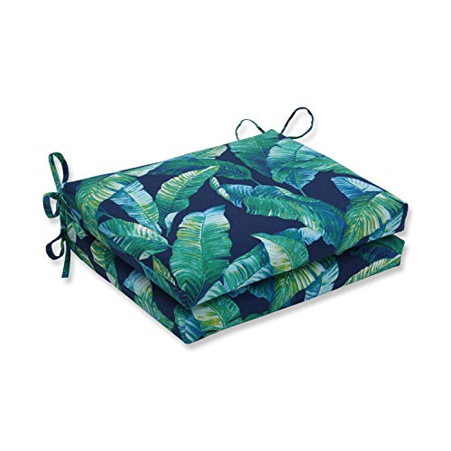 Blue//Green Set of 2 Pillow Perfect Outdoor//Indoor Soleil Squared Corners Seat Cushion