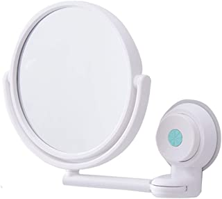 Vanity Mirror Wall-Mounted Makeup Mirror 360 Degree Rotating Bracket Nail-Free Design Double-Sided ABS HD for The Family