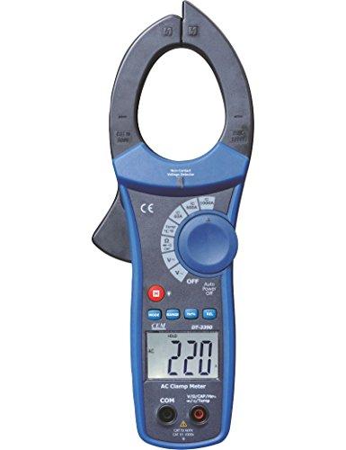 Preisvergleich Produktbild CEM DT-3390 Stromzange Multimeter,  Zangenmessgerät 1000A AC,  Durchgangsprüfer,  berührungsloser Spannungsmesser,  Strommessgerät,  TÜV / GS,  CAT III,  4000 Counts, 3 Jahre Garantie