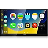 Double Din Car Stereo with Bluetooth- Apple Carplay & Android Auto, 7 Inch Touchscreen Car Audio Receiver, Car Multimedia Player with Backup Camera, AM/FM Radio, Voice Control, AUX Input, Mirror Link