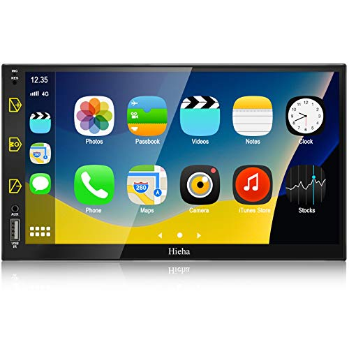 Double Din Car Stereo with Bluetooth- Apple Carplay & Android Auto, 7 Inch...