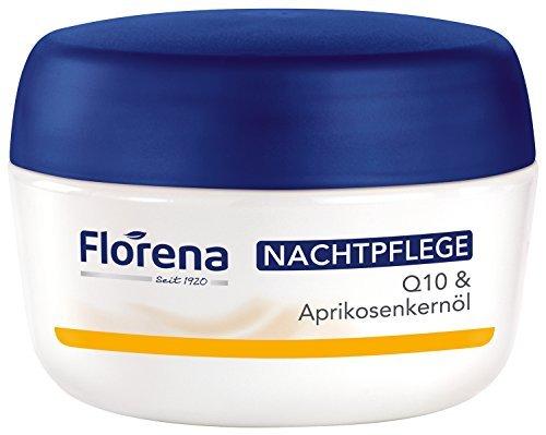 Florena Glättende Anti-Falten Nachtpflege mit Q10, 1er Pack, (1 x 50 ml)