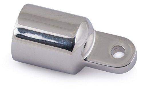 Rohr-Endstück Endkappe 20 mm Verdeckbeschlag Edelstahl mit Öse Endstück Persenning Verdeck Bimini