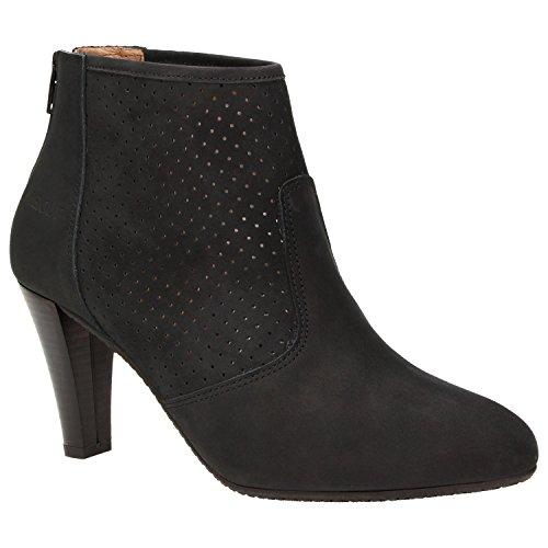 Zweigut® -Hamburg- komood #310 Damen Sommer Stiefelette Schuh extrem Komfort Nubukleder auf Flexibler Sohle atmungsaktiv, Schuhgröße:36, Farbe:schwarz