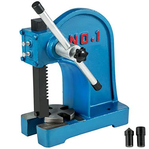 VEVOR Pressa Manuale 1T Pressa Cremagliera Manuale da Tavolo Pressa Manuale da Banco Punzonatrice Forza 1 Tonnellate