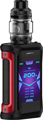 GeekVape Aegis X 200 Watt + Z Subohm 5ml Tank im E Zigarette Set - Farbe: (rot-schwarz)