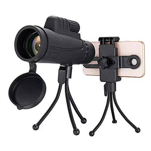 Read About Yuybei Monocular Telescope 40x60 10 Times FMC Coating BAK4 Monocular Ultra HD Waterproof ...