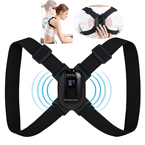 Smart Posture Corrector with Sensor Vibration Reminder for Men and Women, Backmedic Posture Reminder for Teens Kids with Adjustable Angle and Strap Help to Keep Right Posture