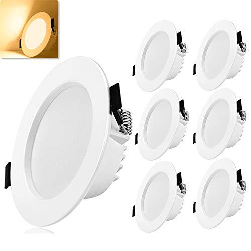 Gr4tec Faretti LED da Incasso 6 x 5W (Equivalenti a 50W) 230V,35mm Faretto Cartongesso Incasso Luce Calda 3000K, IP20 Angolo del Fascio Luminoso 120°, SpotIncassoLed Per Camera da letto