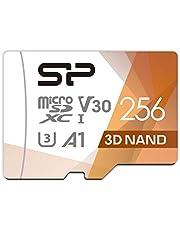 シリコンパワー microSD カード 256GB class10 UHS-1 U3 対応 最大読込100MB/s 4K対応 アダプタ付 3D Nand 2019年モデル 【Amazon.co.jp限定】 SP256GBSTXDU3V20AB