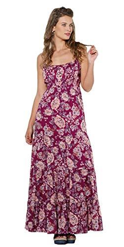 Coline Romantisches Kleid mit schönen Blumen (Bordeaux, L/XL)
