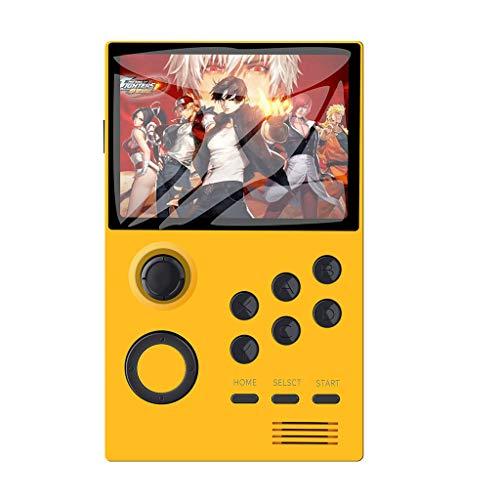 Detrade HD Palm Spielekonsole Retro Handheld-Spielekonsole Videospiel 4,3-Zoll-Bildschirm HDMI-Ausgang Unterstützung WiFi (Yellow)
