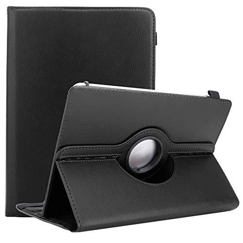 Cadorabo Tablet Hülle kompatibel mit Alcatel 1T (10 Zoll) in SCHWARZ - Schutzhülle aus Kunstleder mit Standfunktion - 360 Grad Hülle mit Gummiband