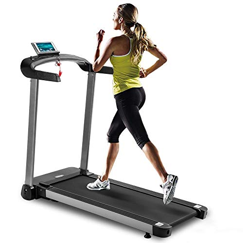 Read About 16″x 44″ Treadmill Light Commercial Electric Folding Treadmill Electric Treadmill with LED Display Ship from USA (Color : 1)