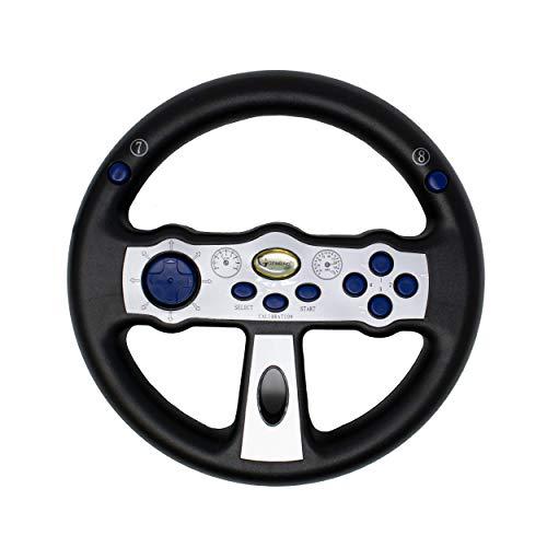 I-CHOOSE LIMITED Volante con Sensore di Movimento Cablato USB/Controller di Guida Cablato/Per Windows, Computer Portatile, PC, Giochi