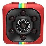 CZWNB Mini Spy Telecamera Nascosta, 1080P Portatile Piccola videocamera HD Nanny con Visione Notturna e Motion Detective, Perfect Indoor segrete Telecamera di Sicurezza per la casa e L'Ufficio,Red