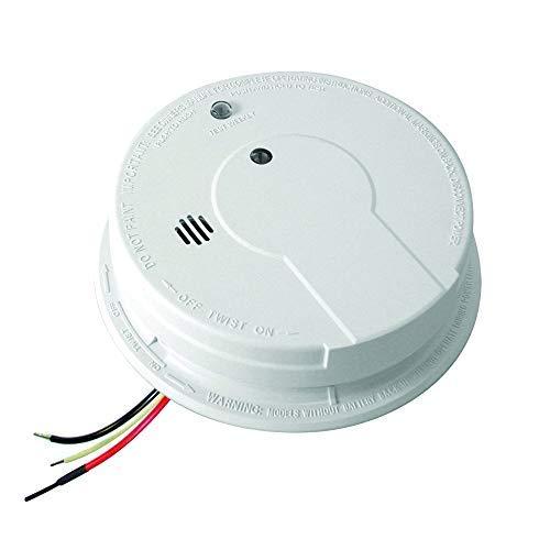 Kidde Smoke Detector, Hardwired Smoke Alarm with Battery Backup & Interconnect, Test-Silence Button