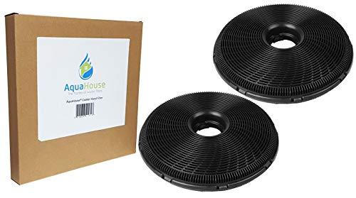 AquaHouse Kohlefilter, 190 mm, kompatibel mit verschiedenen Dunstabzugshauben von AEG, Britannia, Candy, Electrolux, Zanussi, 2 Stück