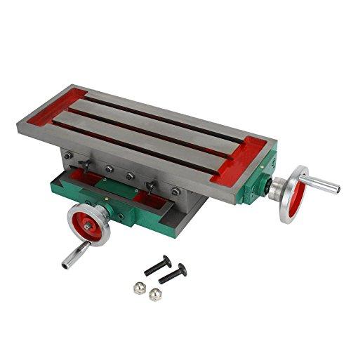 Mophorn Mesa de Fresado de Diapositivas Compuesta 450x170mm Mesa de Trabajo de Fresado Multifuncional de Precisión para Todos los Bastidores de Perforación Taladros y Fresadoras