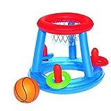 Canasta de Baloncesto Hinchable con Pelota y 3 Aros 61 cm