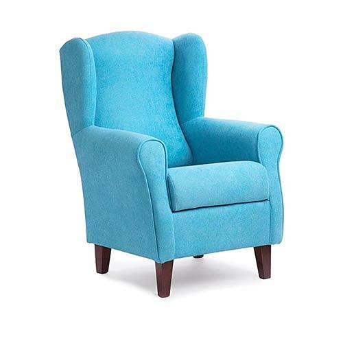 Gasten a gusto Azul Sillón Butaca Orejera- Tela Anti-Manchas (Acualine), tamaño reducido para salón o Dormitorio. (Medidas : 103 * 74 * 78 cm.) para Ver la TV, Leer o Lactancia.… Azul