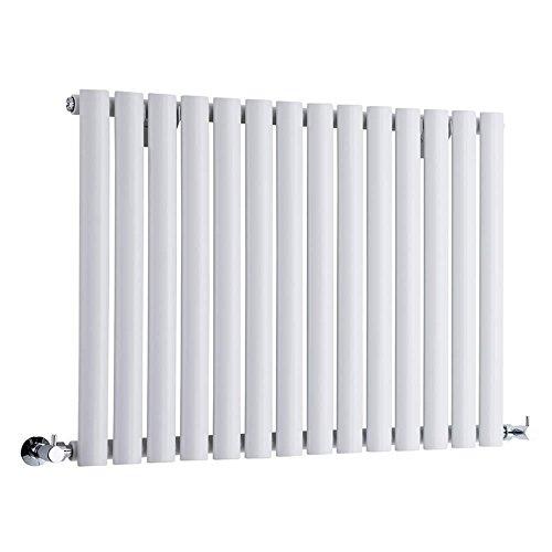 Hudson Reed Radiador Revive Horizontal con Calefacción de Diseño Moderno - Radiador con Acabado en Blanco - Diseño de Columna - 635 x 826mm - 836W - Calefacción de Lujo