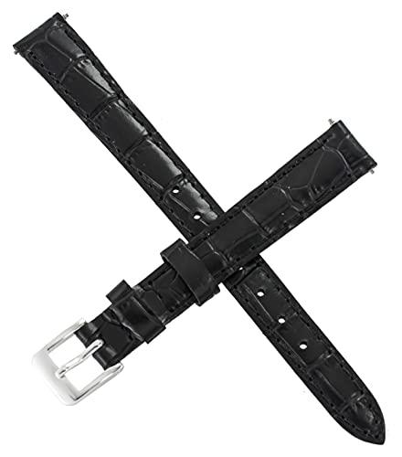 Correa de reloj Casio LTP-1236L LTP 1236L 1236PL 1236 de cuero negro