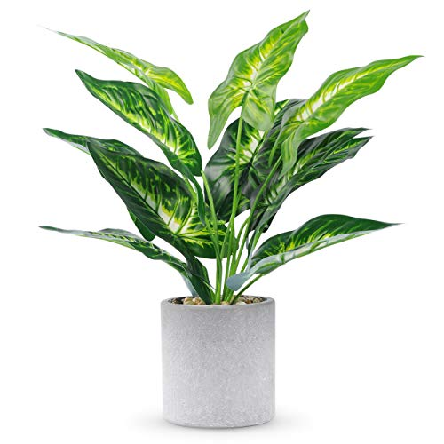 """WUKOKU 16"""" Fake Plants Faux Potted Plants Small Artificial Plants Indoor for Home Farmhouse Office Desk Bathroom Kitchen Bedroom Decor"""