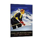 SDFDP Garmisch Partenkirchen Ski-Poster, dekoratives