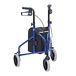 "Ultralight at only 4.7kg Lightweight solid 7"" wheels for indoor or outdoor use Comes standard with carry pouch Arthritic friendly loop brakes Handles are adjustable in height"